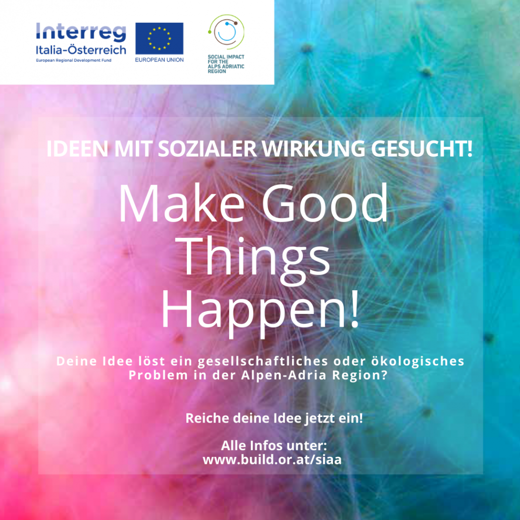Ideenwerttbewerb: make good things happen