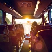 Innenraum eines Busses