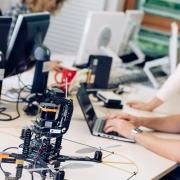 Technik-Studierende an der Universität Klagenfurt