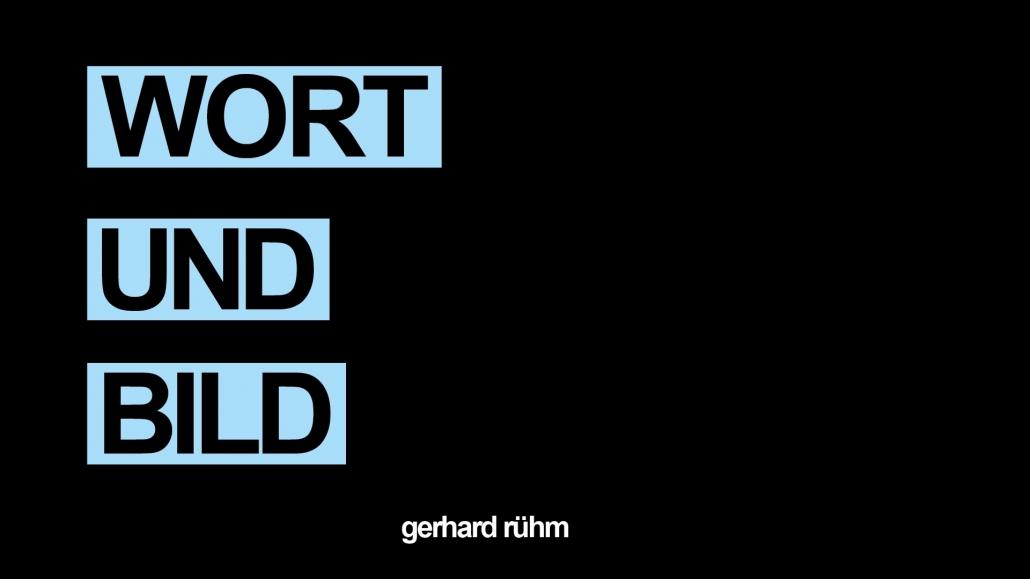 Titelbild zur Ausstellung Gerhard Rühm_Wort und Bild