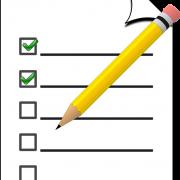 Stift und Checkliste