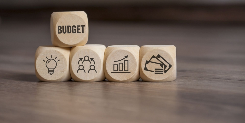 Würfel mit Budget