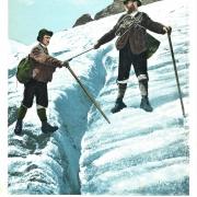 Korrespondenzkarte Gletscherspalte Ausstellung #ungelaufen