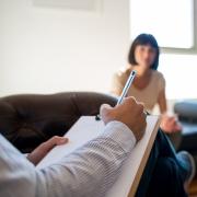 Notizen während einer Therapie-Sitzung