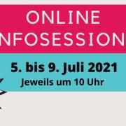 Sujet Online Infosessions 5 bis 9. Juli Live auf Instagram