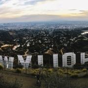 Hollywood Zeichen von hinten