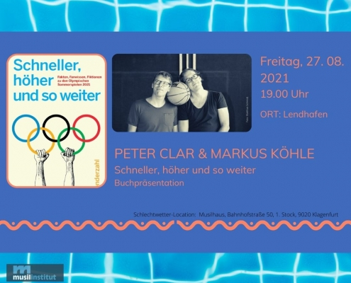 Beitragsbild zur Veranstaltung Markus Köhle und Peter Clar: Schneller, höher und so weiter
