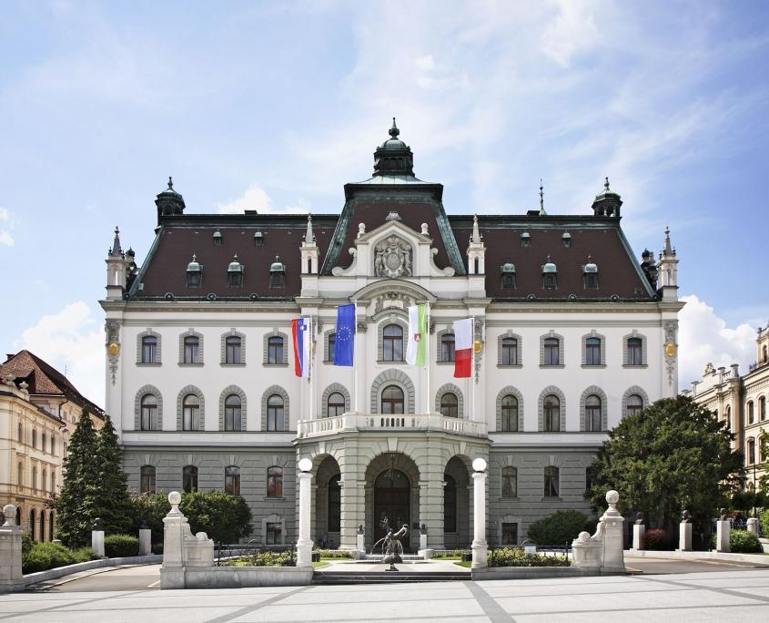 The main building of the University of Ljubljana, Slovenija