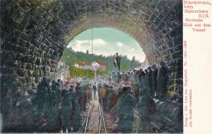 Karawankenbahnbau-Nordseite-Blick-aus-dem-Tunnel