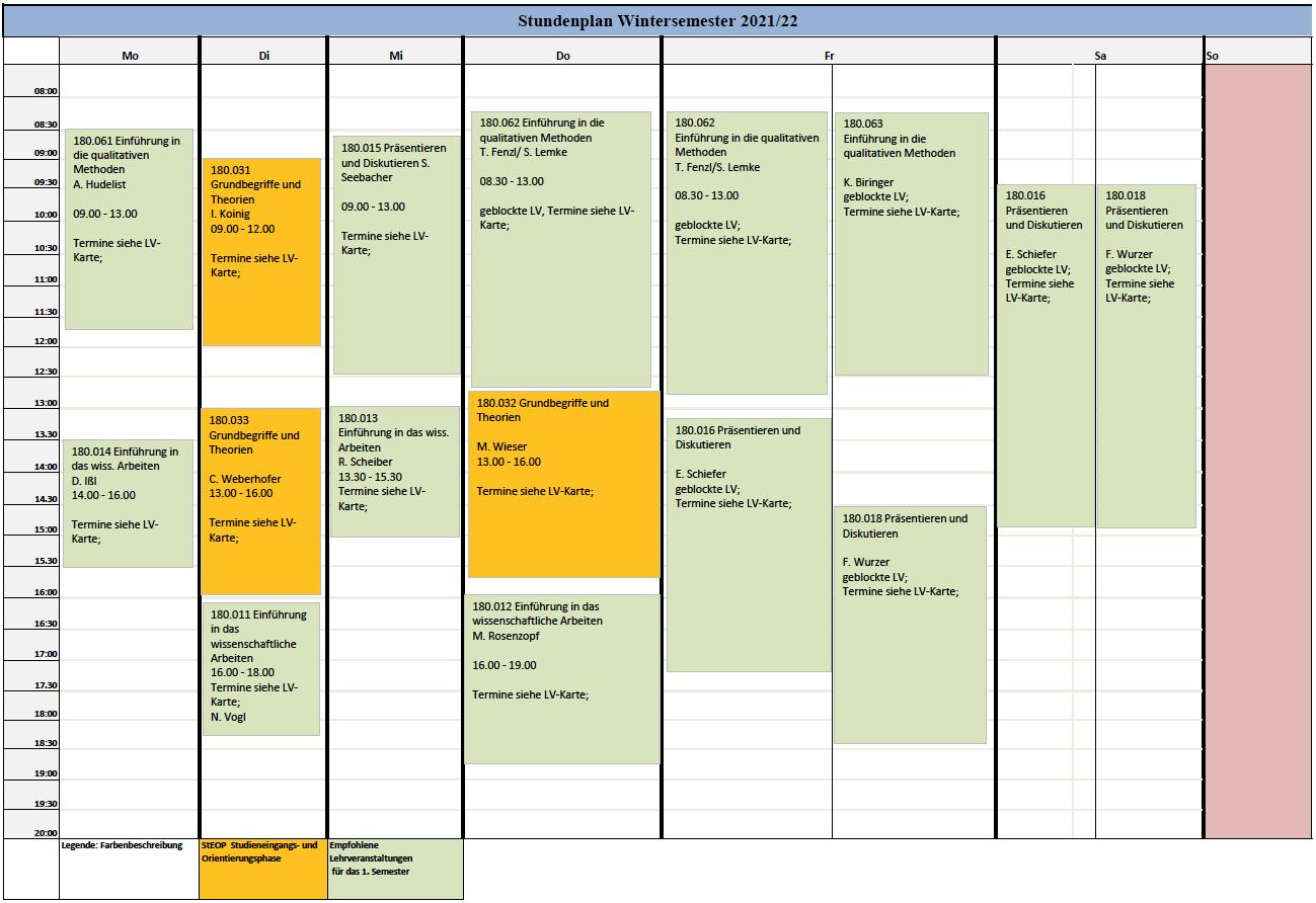Stundenplan MK WiSe 2021-22