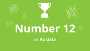 Grafik Rankings Number 12 in Austria