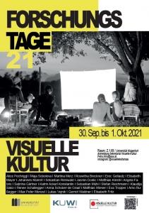 Visuelle Kultur (Plakate für die Forschungstage am 30. September bis 1. Oktober)
