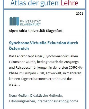 Virtuelle Österreich-Exkursion